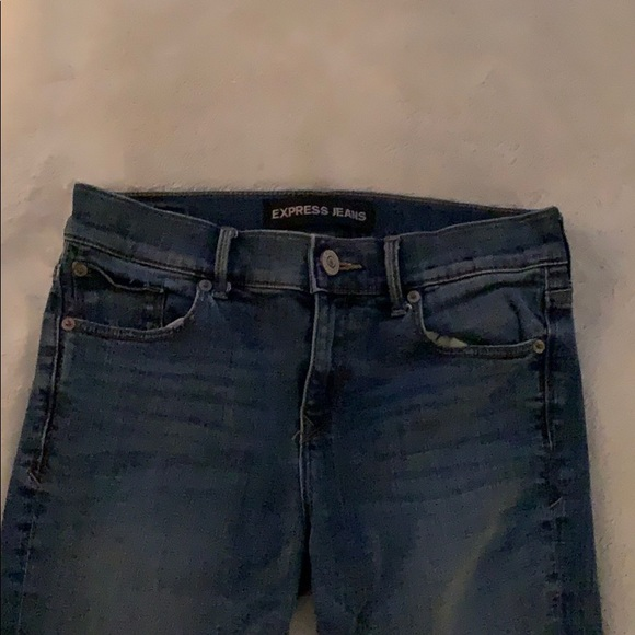 Express Jeans skinny mid rise jeans